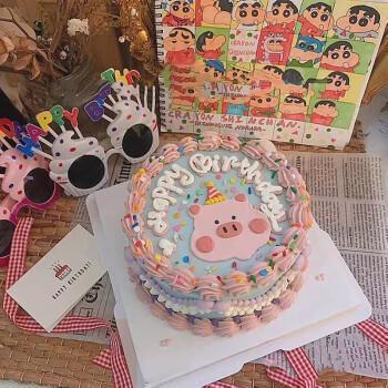 定制韩式文艺复古网红ins创意水果新鲜生日蛋糕同城配送上海广州