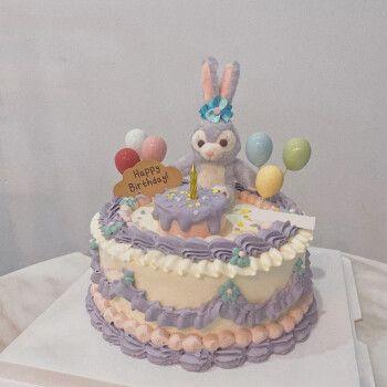 蛋糕全国预定同城配送闺蜜老婆网红生日蛋糕定制当日送达 可爱小兔子