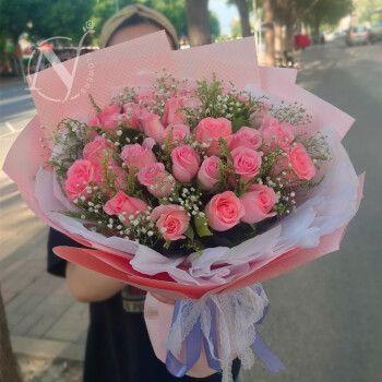 牛粪之上鲜花速递33朵玫瑰花束节生日送女友鲜花全国同城配送 33