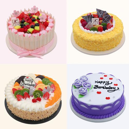 水果蛋糕模型2019新款网红 流行欧式生日8寸10寸橱窗
