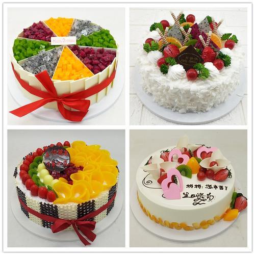 新款水果蛋糕模型仿真生日假蛋糕创意欧式塑胶样品甜品台橱窗展示
