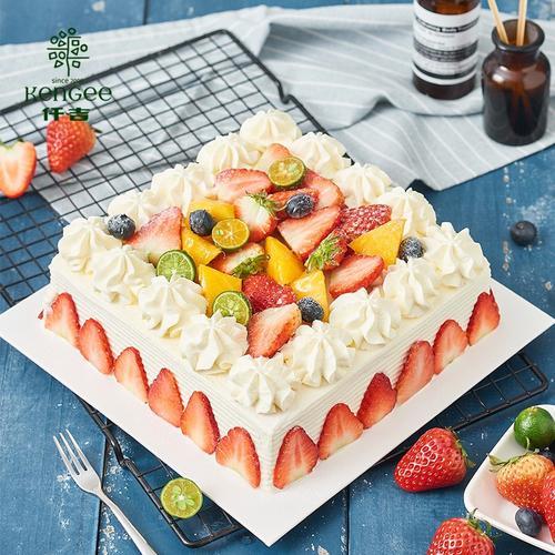 仟吉新品夏日晴朗草莓慕斯生日蛋糕水果蛋糕武汉三环