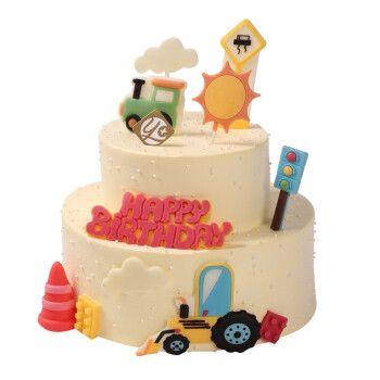 喜乳酪(hey_ yo)卡通蛋糕 yo+童趣系列交通小管家海盐