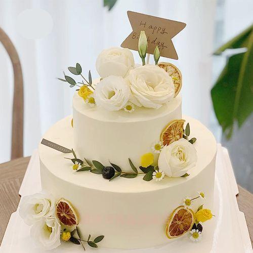 京集 双层网红系列生日蛋糕8+6寸下午茶聚会庆典祝寿生日蛋糕送女友