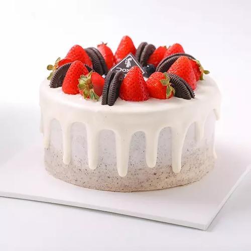 【10寸草莓巴洛克生日蛋糕】多喜来社区团购(祁东)