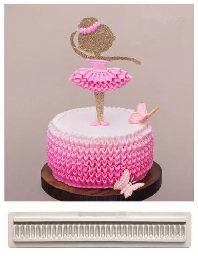 翻糖干佩斯巧克力硅胶模具立体褶皱围边裙边翻糖蛋糕