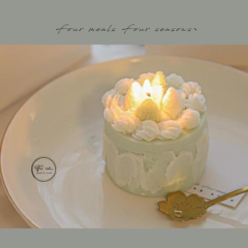 蜡烛浪漫情调可爱少女心卧室无烟安神助眠香薰低温生日蛋糕小蜡烛
