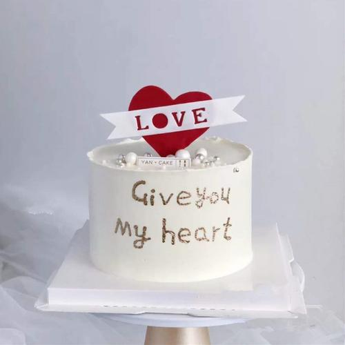 520蛋糕装饰插件生日快乐插牌love歌词书本我爱你
