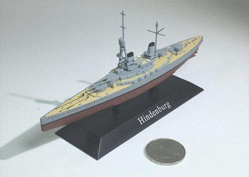 战舰世界 德国兴登堡号/hindenburg战列巡洋舰 军舰模型 1:1250