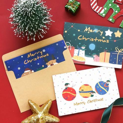 生日卡片可写字的圣诞贺卡定制心愿卡片学生小学生ins