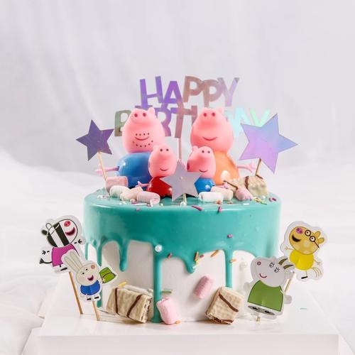 小猪佩奇的生日蛋糕