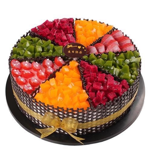 2021新款水果蛋糕模型 不褪色不变形仿真n生日蛋糕模型假蛋糕样品