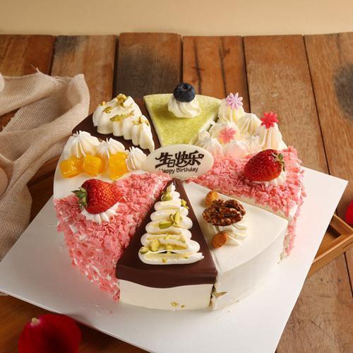 招牌4口味8拼冰淇淋蛋糕8英寸
