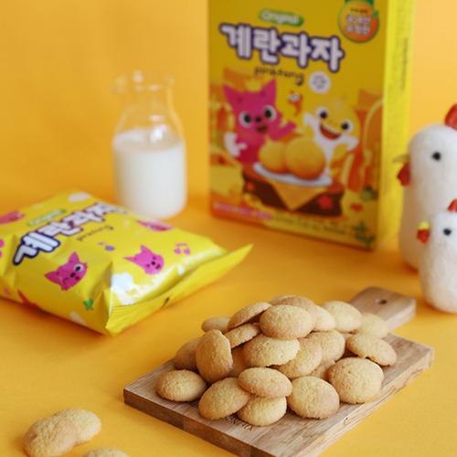 韩国进口 海太鸡蛋饼干45g/盒 小孩宝宝儿童维生素小