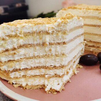生酮蛋糕俄罗斯千层提拉米苏蛋糕无麸质生酮吧生酮糕点 生酮提拉米苏