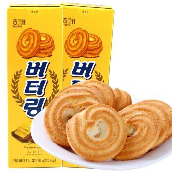 韩国海太黄油曲奇86g*3/2盒奶油曲奇饼干糕点心香浓酥脆香甜进口食品