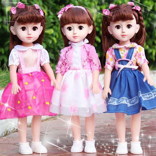 会说话的嘿喽芭比娃娃婴儿童玩具智能仿真洋娃娃套装