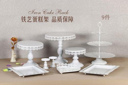 盘13件套西点托盘装饰婚庆甜品台蛋糕架欧式套装组合