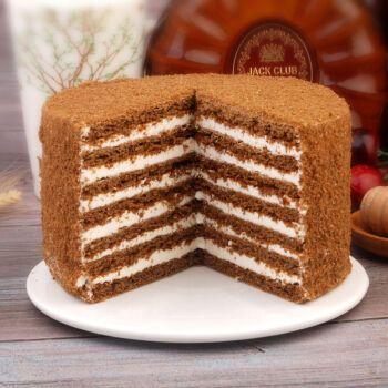 俄式双山风味蜂蜜提拉米苏奶油生日千层蛋糕 原味450克 加1个可可味
