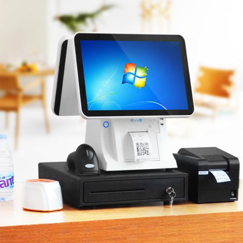 (预售)高配64g触摸双屏收银机一体机烟草云pos系统奶茶餐饮点菜机超市