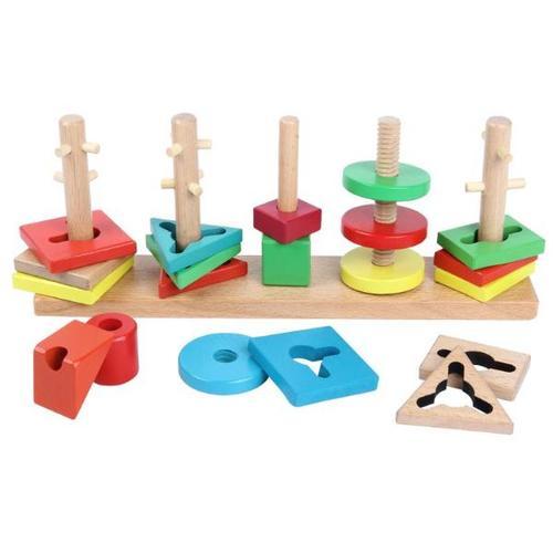 儿童益智力几何智慧套柱早教积木玩具1-2-3岁周岁一岁