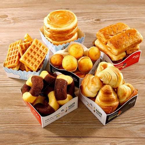 胡萝卜泡芙100方形面包托餐包牛角包西点麻薯烘焙包装