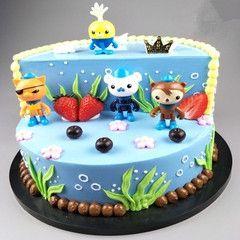 2018新款卡通小孩玩具章公主男孩探险队员水果卡通仿真蛋糕模型