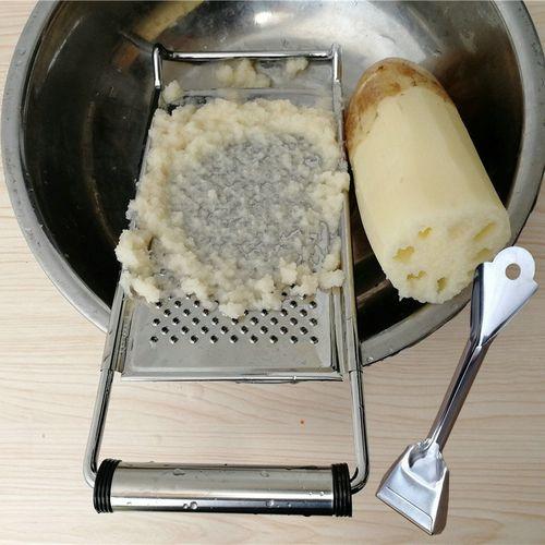 磨土豆泥擦擦藕泥神器家用叉子洋芋擦擦工具姜蒜擦泥器土豆磨泥器