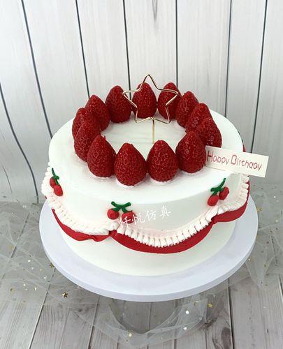 仿真蛋糕模型新款网红创意简约欧派水果卡通奶油生日