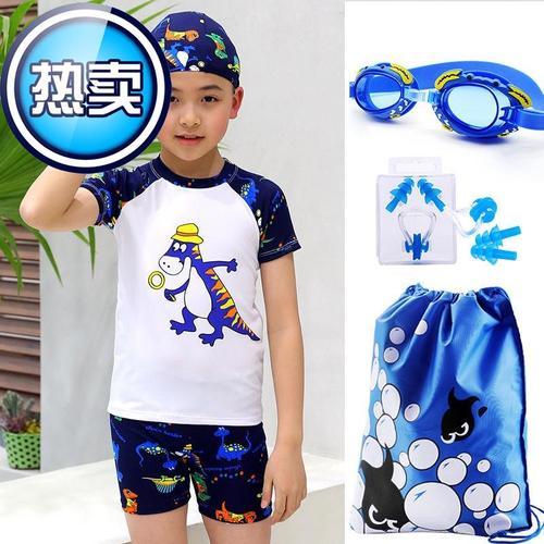服装大童带帽游泳平角夏◆定制◆天儿童衣服小孩潮