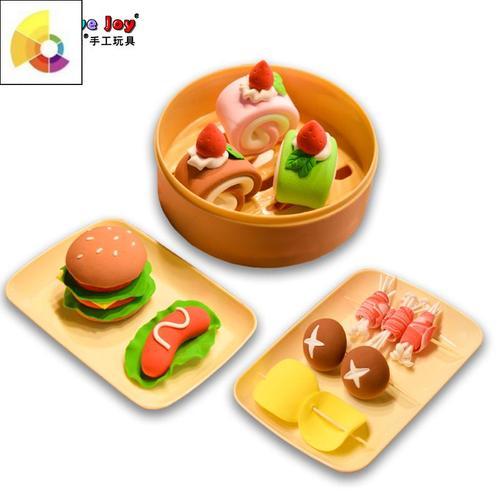 儿童超轻粘土diy仿真食物甜品水果制作材料包幼儿过家家手工玩具