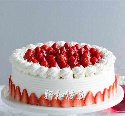 轩和仿真欧式水果蛋糕模型新款草莓奶油贺寿精美塑胶开业橱窗样品