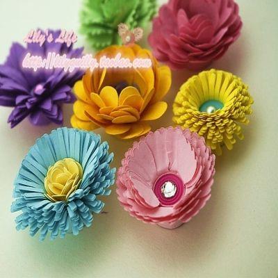 衍纸画花朵手工制作材料包玫瑰花型洐纸立体幼儿园diy
