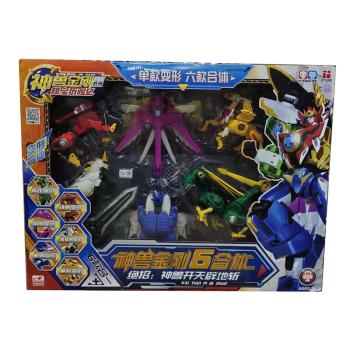 神兽金刚五合体六合体玩具麒麟朱雀白虎玄武青龙天地神兽机器人 神兽