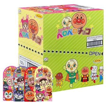 日本进口不二家fujiya单棒双棒巧克力棒棒糖 面包超人头型食玩卡通