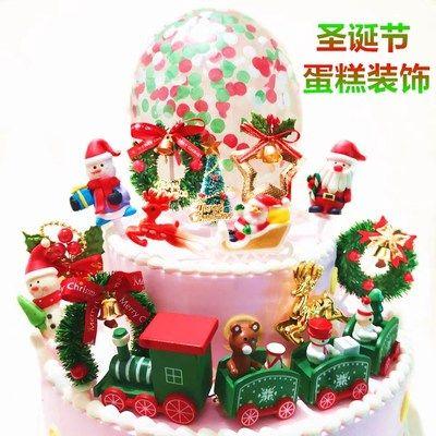 圣诞麋鹿娃娃摆件 圣诞公仔人偶蛋糕摆件 圣诞节主题