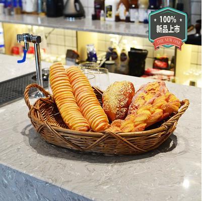 手工柳编藤编水果篮零食筐果盘圆形食物烘培面包托盘