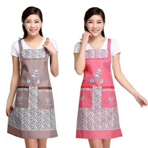韩版围裙女防油污罩衣厨房做饭可爱背带围腰裙餐厅男女工作服透气