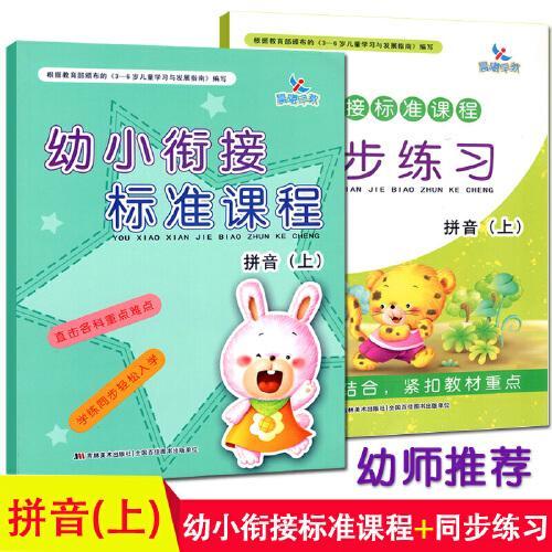 共2本幼小衔接标准课程整合教材拼音上册同步练习一日