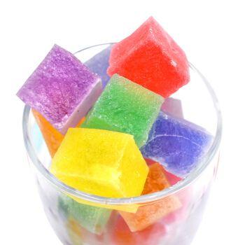 网红琥珀糖抖音零食韩国咀嚼软糖手工糖彩虹果冻水晶宝石糖水果糖 370