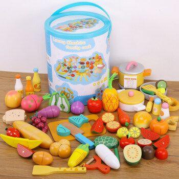 过家家玩具女孩水果切切看木制厨房化妆包梳妆台生日蛋糕冰淇淋树 1