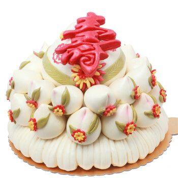 金穗朵花饽饽馒头蛋糕老人过寿祝寿生日 馍馍饽饽传统糕点寿桃面点