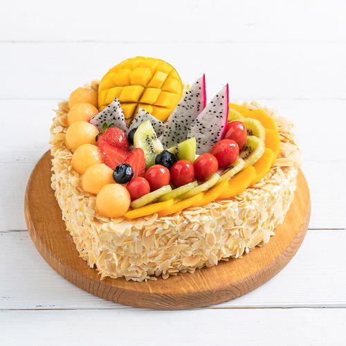 吃到爽】香甜多汁的水果与扁桃仁碰撞,营养又美味,全心全意蛋糕-2磅