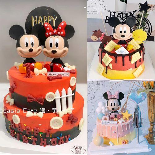 生肖属鼠配件儿童生日蛋糕装饰米其米老鼠玩具摇头