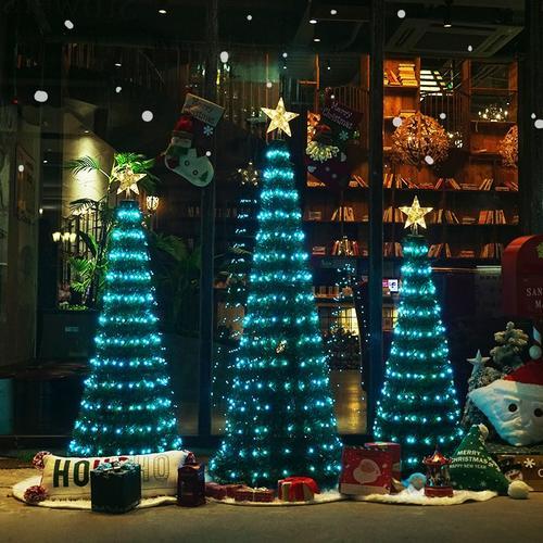 适配ins七彩发光网红带灯圣诞树1.8米1.2米1.5米套餐