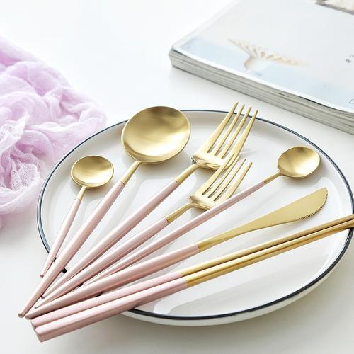 304不锈钢刀叉勺餐具套装 高档西餐刀叉餐具甜品蛋糕