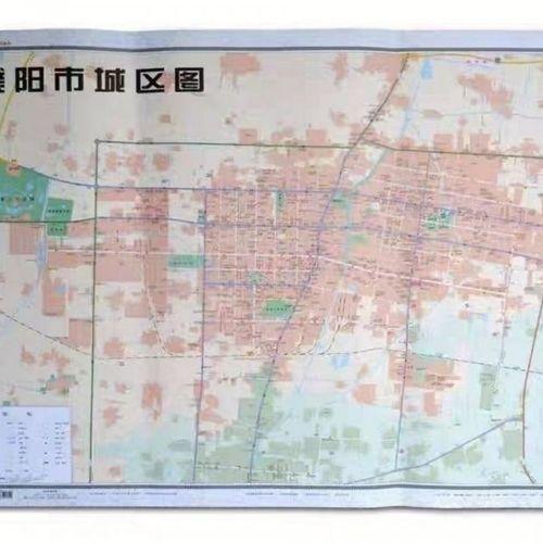 新版河南省十八市全开系列濮阳市城区挂图双面覆膜防水约110*80