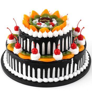 蛋糕预定上海广州合肥深圳成都苏州全国同城配送 流星果园 12寸