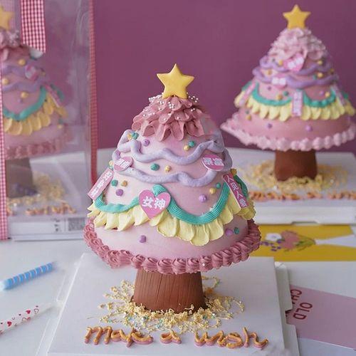 生日蛋糕装饰许愿树支架6寸8寸暴富好身材更美我要发财女神有钱花