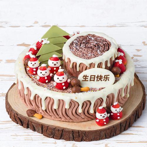 可可树桩蛋糕 2磅208元(三门峡)